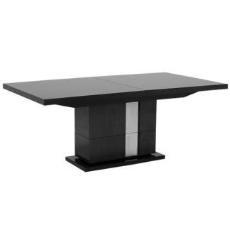 An Image of Carvelle Extending Dining Table Dark Velvet Birch