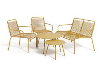 An Image of Habitat Ipanema 4 Seater Sofa Set - Yellow