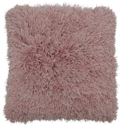 An Image of Argos Home Eyelash Luxe Cushion - Blush Pink
