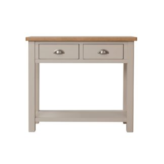 An Image of Reese Console Table Grey and Brown