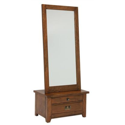 An Image of New Frontier Mango Wood Cheval Mirror