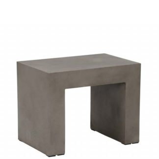 An Image of Geradis Ashi Stool Concrete