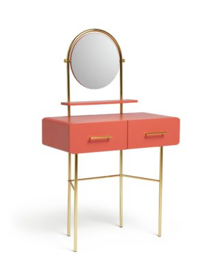 An Image of Habitat Wilderness 2 Drawer Dressing Table - Coral