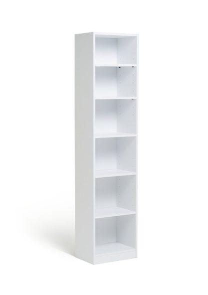 An Image of Habitat Maine 5 Shelf Half Width Bookcase - White
