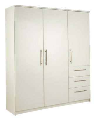 An Image of Argos Home Normandy 3 Dr 3 Drw Extra Large Wardrobe - White