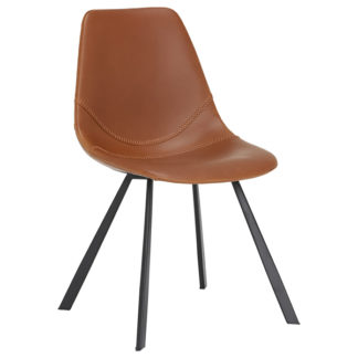 An Image of Fiori Dining Chair Brown