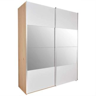 An Image of Modello Sliding Wardrobe With Mirror