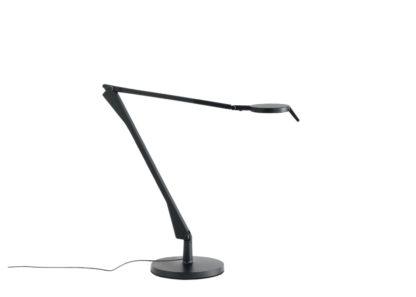 An Image of Kartell Aledin Table Lamp Tec Matte Black