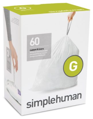 An Image of simplehuman Code G Bin Liners - Pack of 60
