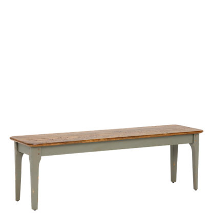 An Image of Maison Bench Albany And Moss Grey