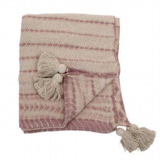 An Image of Textured Throw Blush