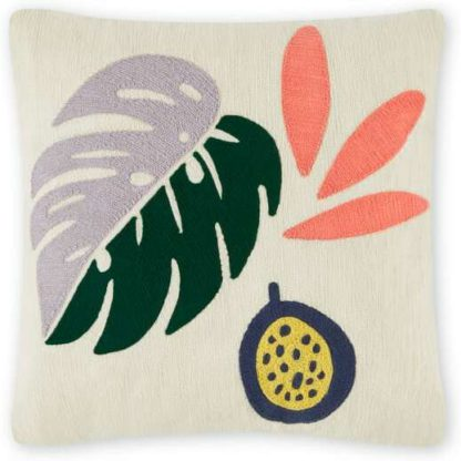 An Image of Orenji Embroidered Cushion, 45 x 45cm, Multi