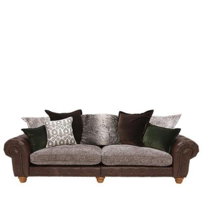 An Image of Melville Grand Split Frame Pillow Back Sofa Stock