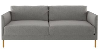 An Image of Habitat Hyde 3 Seater Fabric Sofa - Grey