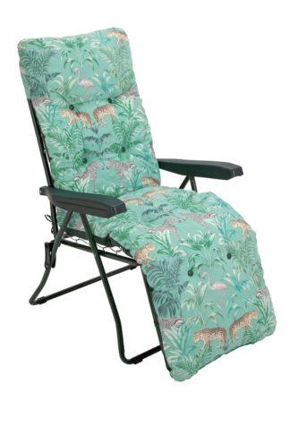 An Image of Argos Home Metal Folding Relaxer Chair - Wilderness Jungle