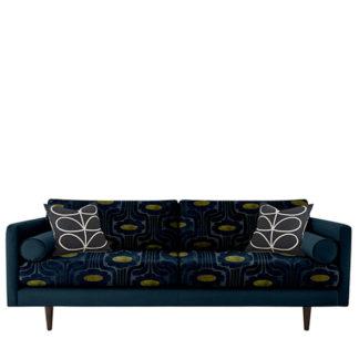 An Image of Orla Kiely Mimosa Large Sofa Patterned Velvet