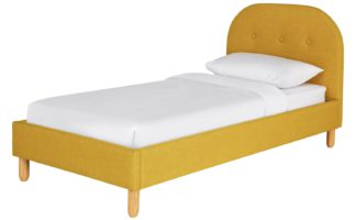 An Image of Habitat Elin Single Bed Frame - Mustard