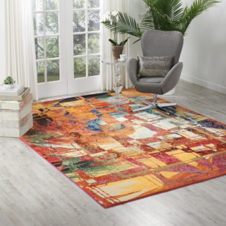 An Image of Celestial Stained Glass MultiColoured Rug NA