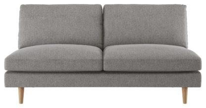 An Image of Habitat Teo 2 Seater Fabric Sofa - Grey