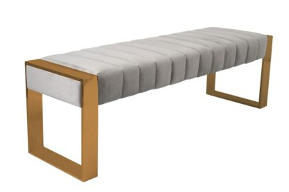 An Image of Judd Bench Brass - Dove Grey