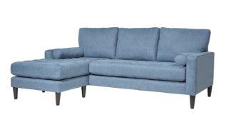 An Image of Habitat Hudson Reversible Corner Fabric Sofa - Linnet