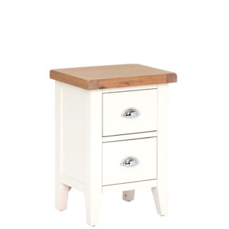 An Image of Althorp Small Bedside Table - Old White And Lightly Lime Washed Oak