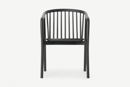 An Image of Tacoma Carver Dining Chair, Charcoal Black