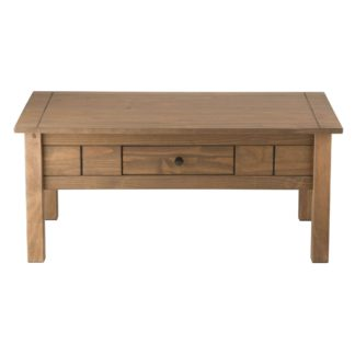 An Image of Santiago Pine Coffee Table Natural