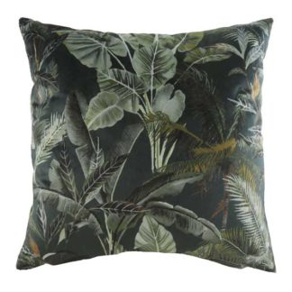 An Image of Dark Leaves Cushion