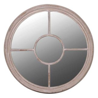 An Image of Round Taupe Mirror Taupe