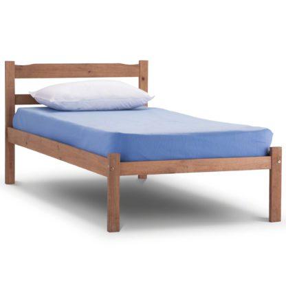An Image of Panama Oak Bed Frame Natural