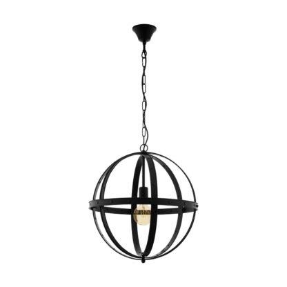 An Image of Eglo Barnaby Pendant Light - Black