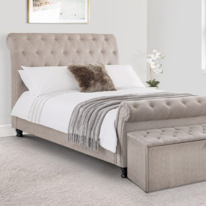 An Image of Ravello Upholstered Bed Frame Grey