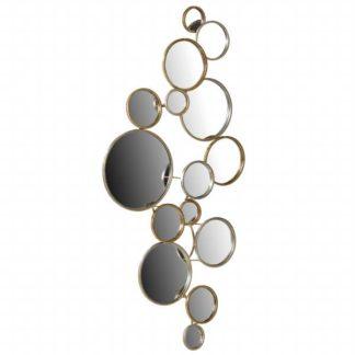 An Image of Decorative Circles Mirror Gold
