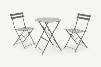 An Image of 2 Seat Garden Folding Bistro Set, Grey