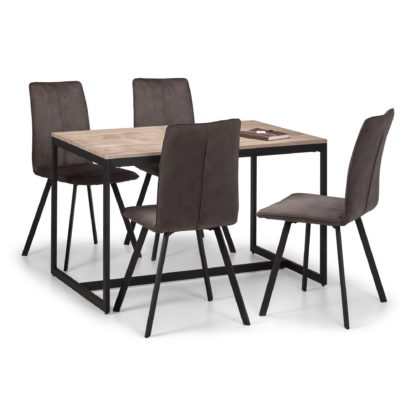 An Image of Tribeca Dining Table & 4 Monroe Chairs Black