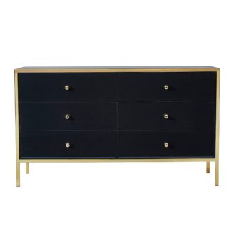 An Image of Fenwick 6 Drawer Chest Black