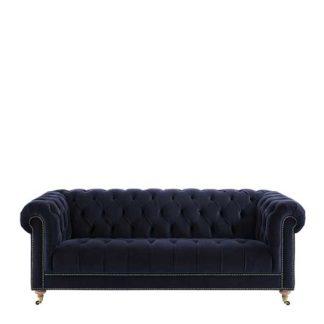 An Image of Ullswater Velvet 3.5 Seater Chesterfield Sofa
