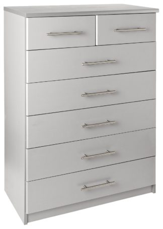 An Image of Argos Home Normandy 5+2 Drawer Chest - Grey