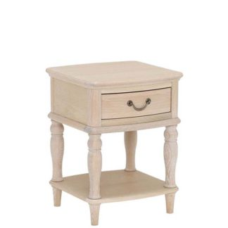An Image of Charente Lamp Table Chalk Oak