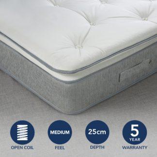 An Image of Fogarty Soft Medium Superfull Pillowtop Open Coil Mattress White