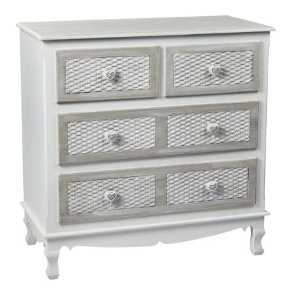An Image of Brittany Chest of Drawers White
