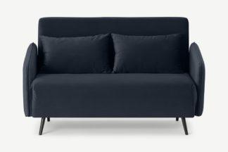 An Image of Hettie Small Sofa Bed, Twilight Blue Velvet