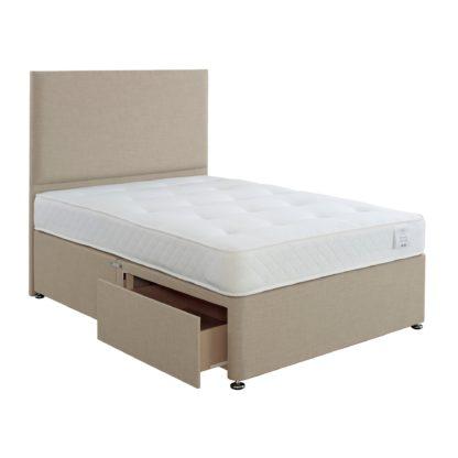 An Image of Superior Comfort Divan Bed with Mattress Grey