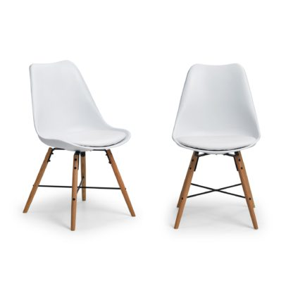 An Image of Kari Set of 2 Dining Chairs White