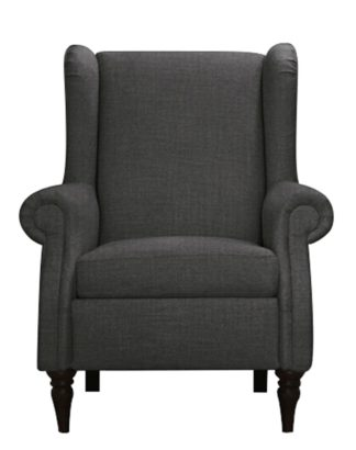 An Image of Argos Home Argyll Fabric High Back Chair - Charcoal