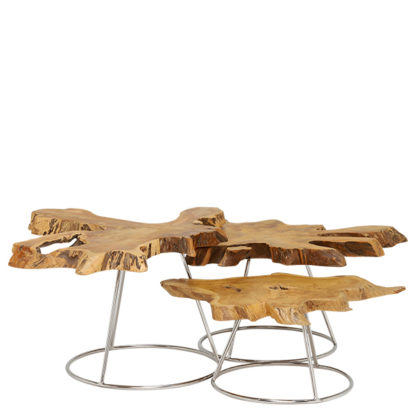 An Image of Caspian Admire Set of 3 Multi Coffee Tables