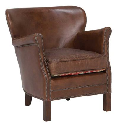 An Image of Cavendish Leather Armchair Vintage Cigar