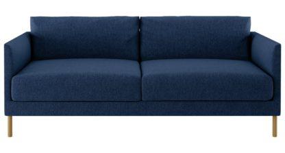 An Image of Habitat Hyde 3 Seater Fabric Sofa - Blue