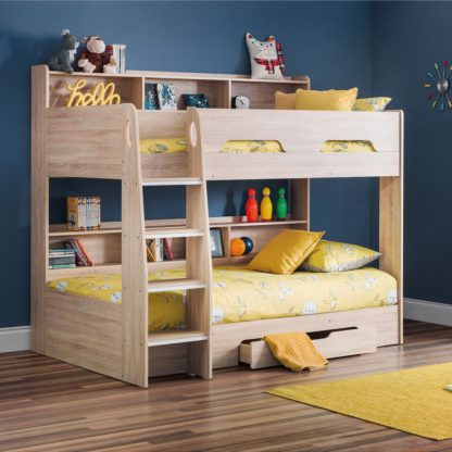 An Image of Orion Single Oak Bunk Bed White